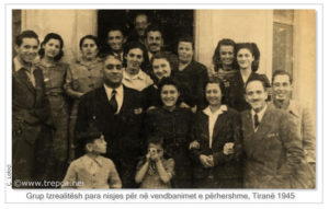 1 grup_izraelitesh_tirane1945